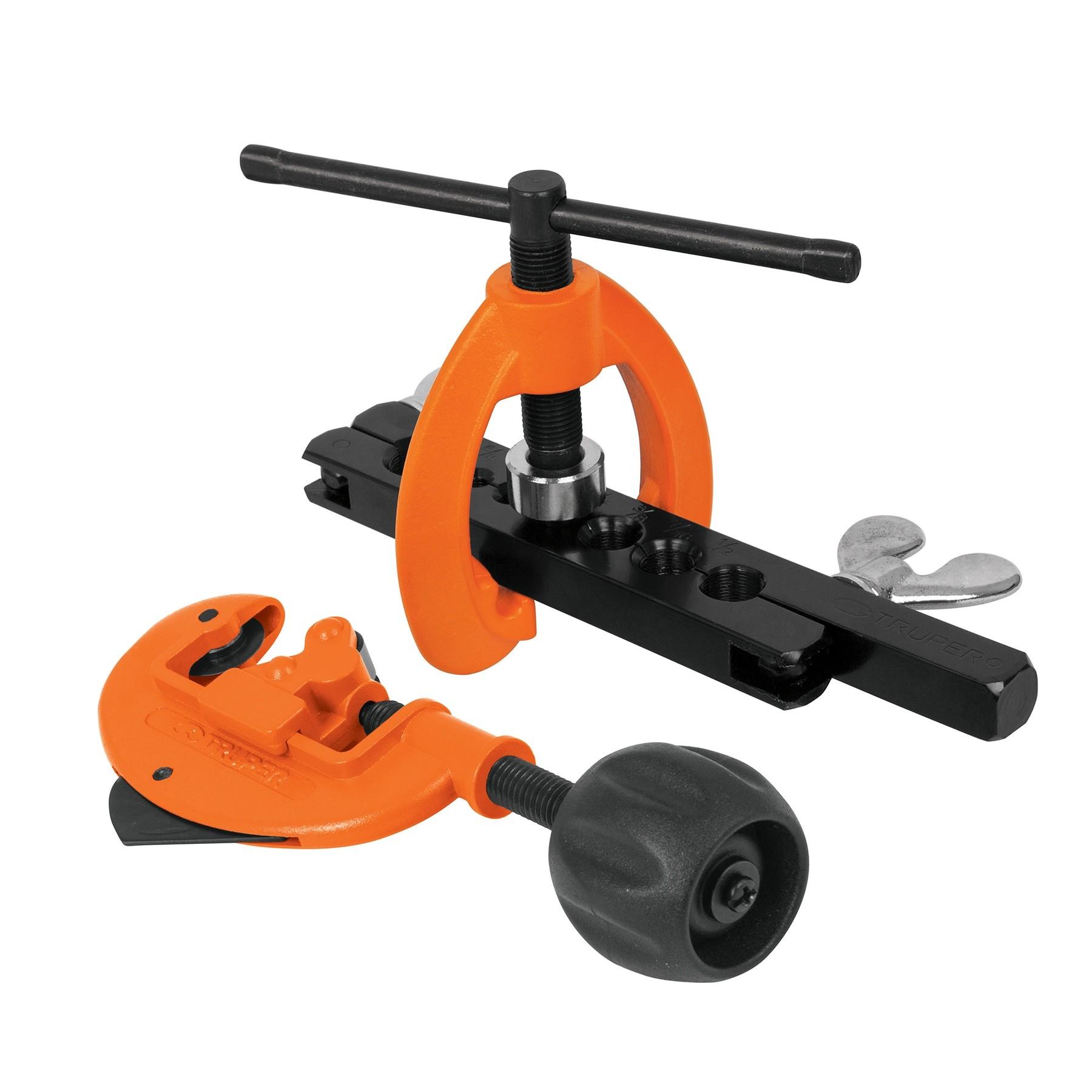 Juego de cortador de tubo y avellanador, 3 piezas