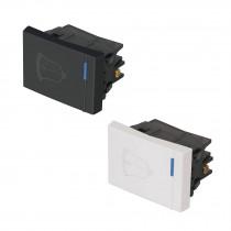 Interruptores para timbre, 1.5 módulos, línea Española