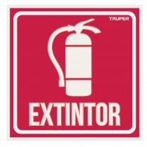 """Letrero de señalización """"EXTINTOR"""", 19 x 19 cm"""