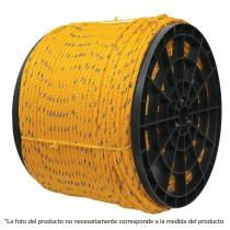 Cuerda torcida de polipropileno, amarilla, 25 mm x 115 m