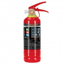 Extintor recargable portátil 0.5 kg, polvo tipo ABC