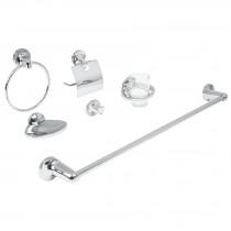 Juego accesorios para baño, 6 piezas, Aqua