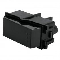Interruptor sencillo, línea Italiana, color negro