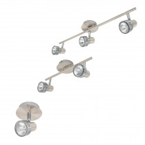 Luminarios con spots de sobreponer, línea lucca