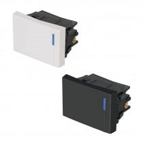 Interruptores de 3 vías, 1 .5 módulos, línea Española