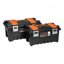 Cajas para herramienta, con compartimentos, broches metálicos
