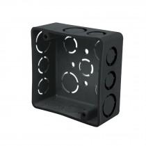 """Caja 4x4"""" cuadrada de plástico, Volteck"""
