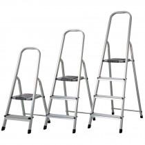 Escalerillas plegables de aluminio, 90 kg