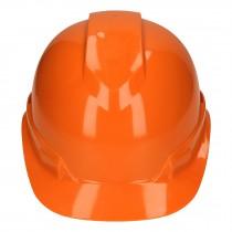 Casco de seguridad ventilado, ajuste de matraca, naranja