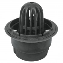 "Coladera para azotea con cúpula y conexión a tubo de 4"""