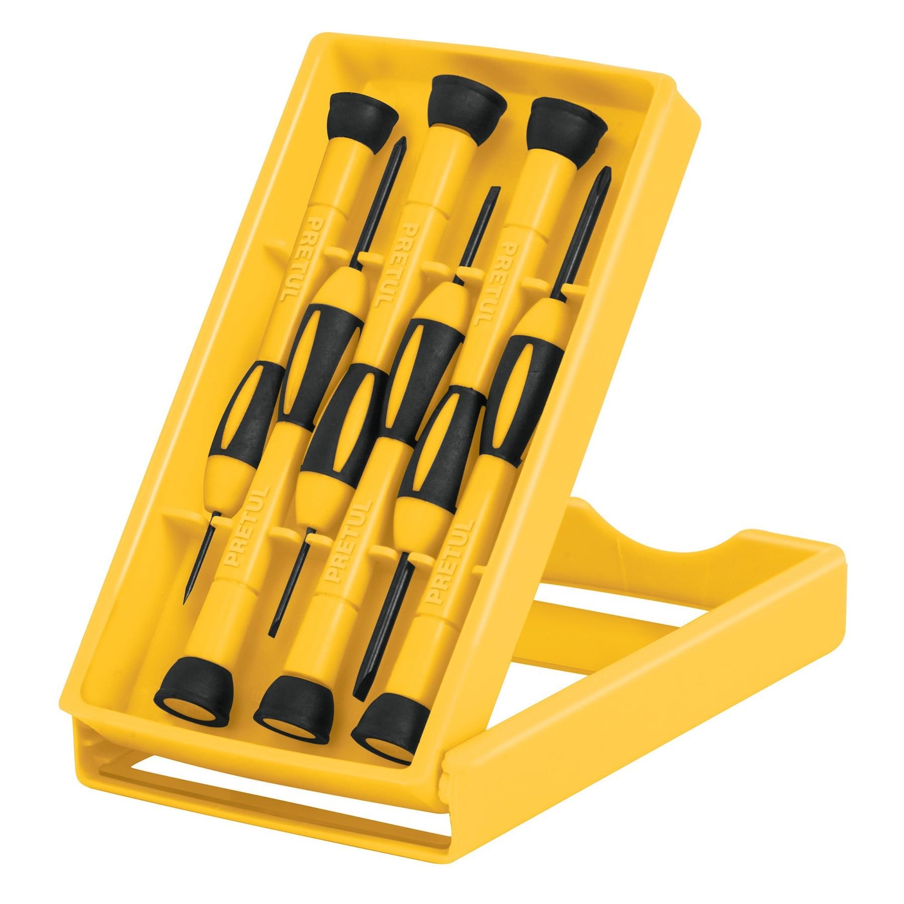 Juego con desarmadores de precisión, 6 piezas, Pretul