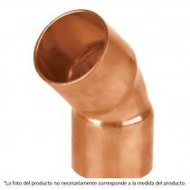 """Codo de cobre 45°, 1/2"""", Basic"""