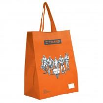 Bolsa ecológica naranja, 38 x 49 cm