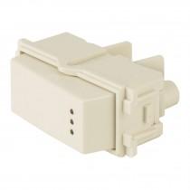 Interruptor sencillo con luz piloto, línea Italiana, marfil