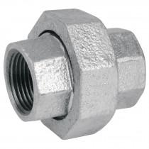 Tuercas unión de acero galvanizado