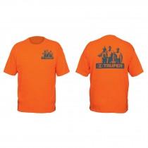 Camisetas estampadas color naranja 100% algodón