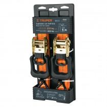 Sujetadores con matraca, carga máxima 1000 kg, 2 piezas