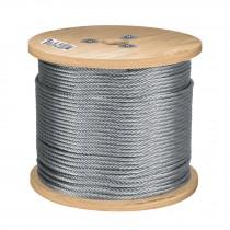 Cables de acero, 7 X 19 hilos, carrete de madera 75 m