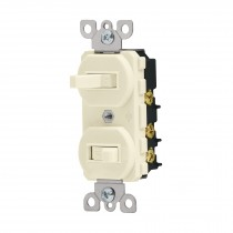 Interruptor dúplex de palanca, Standard, marfil
