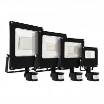 Reflectores de LED alta intensidad, con sensor de movimiento