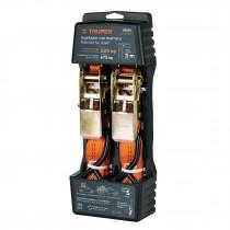 Sujetadores con matraca, carga máxima 675 kg, 2 piezas