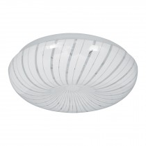 Luminario LED tipo plafón decorativo 22 W, luz cálida