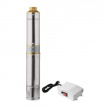 Bomba sumergible para pozo profundo, 1/2 HP, agua limpia