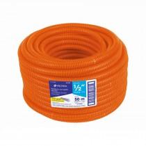 """Poliducto corrugado flexible,1/2"""",con guía,rollo 50m,Volteck"""