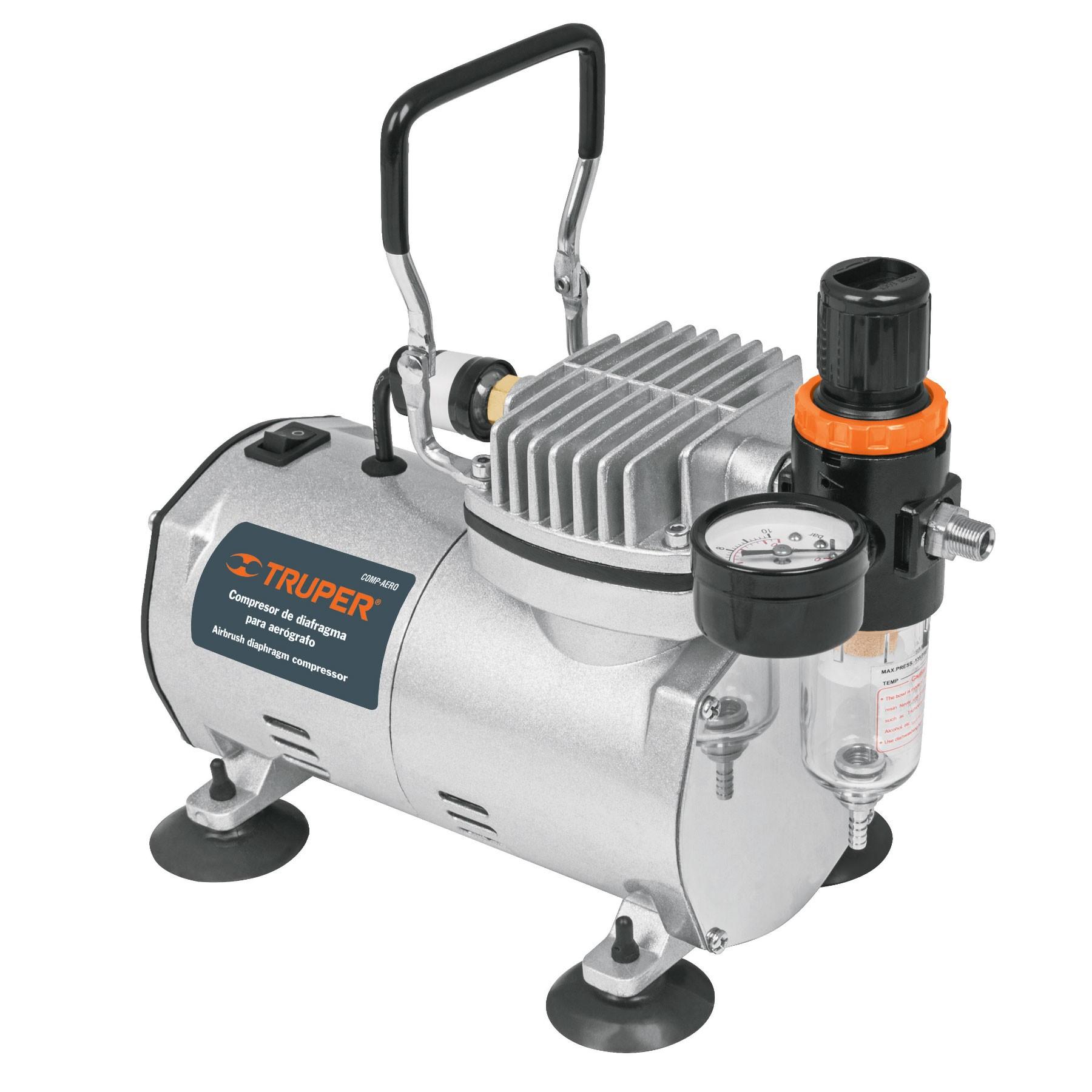 Compresor de diafragma para aerógrafo, 1/5 HP, 110 V