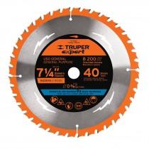 """Disco sierras diámetro 7-1/4"""", centro de 5/8"""", Truper Expert"""