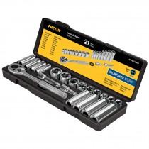Juego de herramientas para mecánico mm, 21 piezas, Pretul