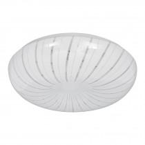 Luminario LED tipo plafón decorativo 18 W, luz cálida