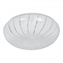 Luminario LED tipo plafón decorativo 15 W, luz cálida