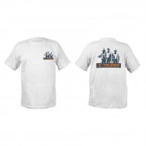 Camisetas estampadas color blanco 100% algodón