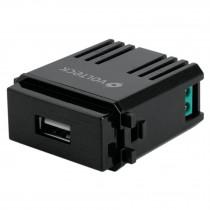 Módulo USB, línea Italiana, color negro