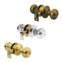 Cerraduras de pomo tipo oval, mecanismo cilíndrico, para entrada