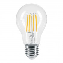 Lámpara de LED, estilo antiguo, A19, 6 W, E26, luz cálida
