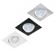 Luminarios empotrables de LED cuadrados, spot dirigible